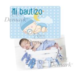 Tarjeta PVC bebé azul
