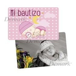 Tarjeta PVC bebé rosa