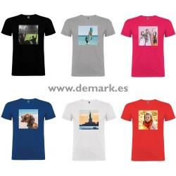 Camiseta Algodón Personalizada sin Recorte