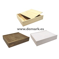 Caja madera Álbum + Hueco Usb
